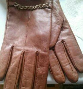 Перчатки кожаные новые, размер 7,5-8,