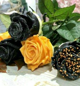 Цветы и букеты. Шоколадные розы.