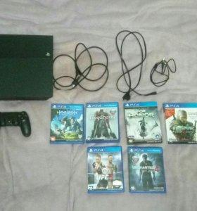 PS 4 500gb + 6 игр