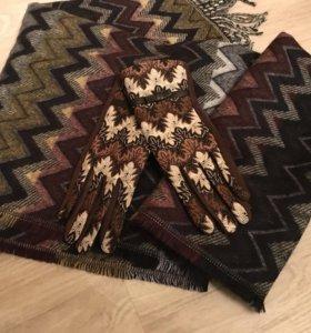 Набор в стиле Missoni Шарф и перчатки