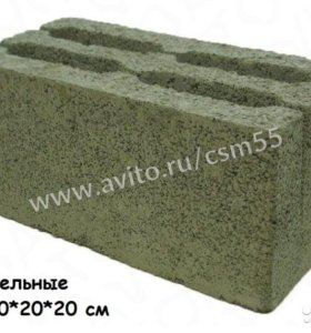 Строительный камень из керамзита 40x20x20 см