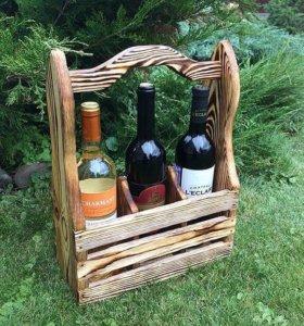 Декоративный ящик для вина ( ручная работа)