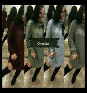 Женское платье свитер oversize