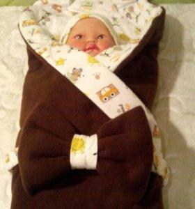 Одеялко с бантиком (новое)