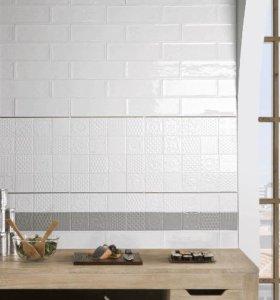 Плитка Monopole Ceramica белая 10*30