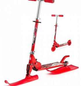 Cнегокат-cамокат Small Rider Combo Runner 120 red