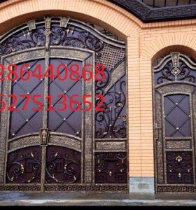 двери,ворота.перила,козырьки,беседки и т.д.