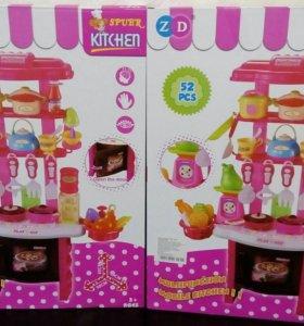Кухня детская с посудкой и продуктами