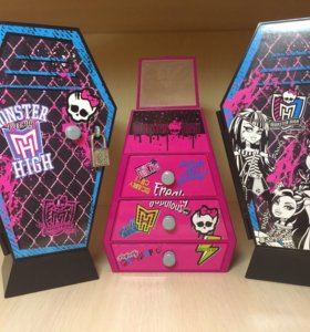Monster High 3 шкафчика