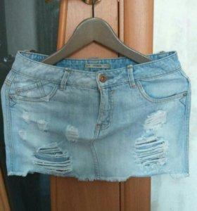Юбка джинсовая pull&bear 42 размер