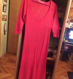 Розовое платье 44 размера