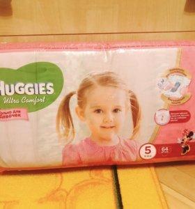Хагис 5 для девочек. Huggies Ultra Comfort 5⚠️64шт
