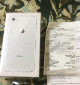 Новый Iphone 8 256 gb silver РСТ!