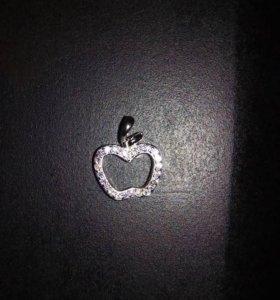 Серебряная подвеска яблоко