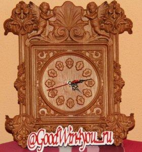 """Настенные часы """"Ангелы""""."""