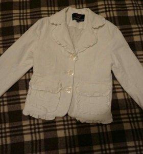 Пиджак вельветовый для девочки