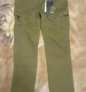 Новые штаны утепленные хлопок + флис