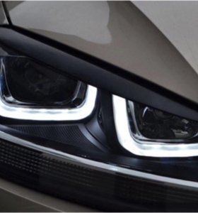 Накладки на фары VW Golf 7 MK 7 реснички 2 цвета