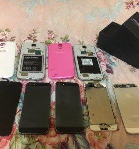 iphone 5 (3шт) дисплей iphone 5 (2шт) и 2 Samsung