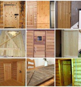 Двери из дерева, каркасы для дверей.