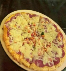 Полуфабрикаты, пицца для детей и взр начинка любая
