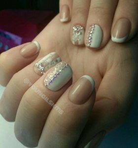 Маникюр, покрытие ногтей гель-лак (шеллак)