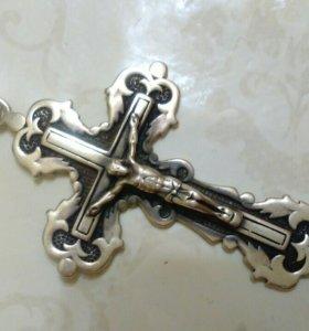 Крест серебро 925 пр