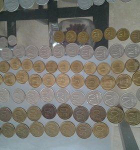 Монеты времена перестроичные 50 20 5 1 10 1