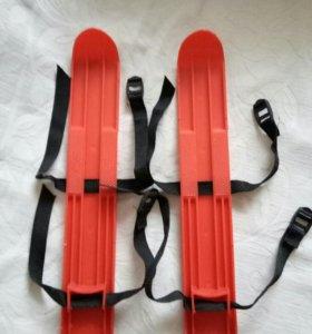 Лыжи на ремешках