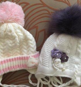 Детские шапки на девочку