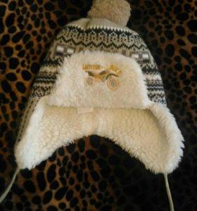 Шапочка зимняя с шарфиком!