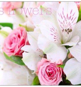 Флорист. Букеты. Оформление цветами.Букет невесты