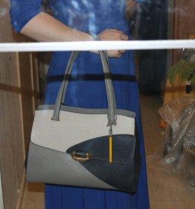 Новая большая сумка Оригинал Италия Cromia натурал