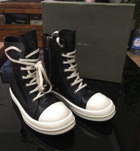 Кеды Ramones Converse Rick Owens High кожа 41-42