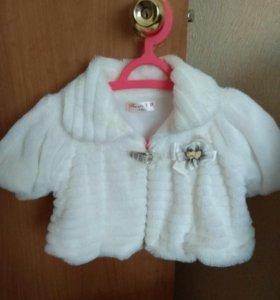 Нарядное платьешко и шубка для девочек 4-5 лет