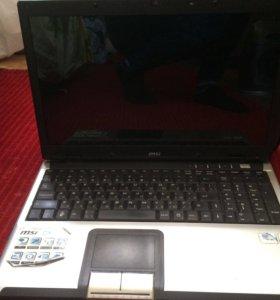 Продаю ноутбук MSI на запчасти