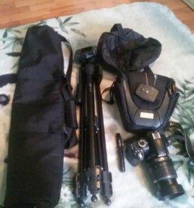 Nikon d3100+18-55vr+штатив|сумка|