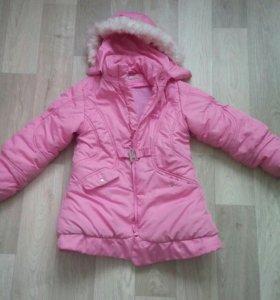 Пальто зимнее,  рост 128