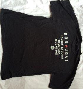 Новая сувенирная футболка с концерта Bon Jovi