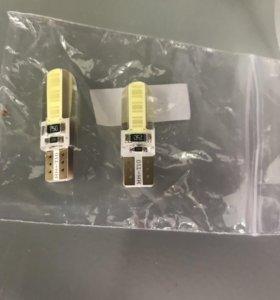 Led лампочки для габаритов w5w(t10)