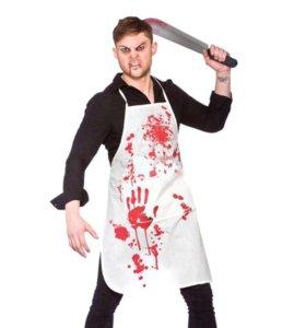 Фартук с пятнами крови для Хеллоуина