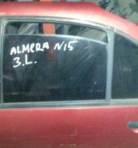 Дверь задняя левая Nissan Almera n15 2шт