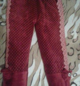 Зимние штаны на девочку 4-5лет
