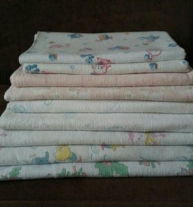 Пеленки фланелевые + ситец+ подушка