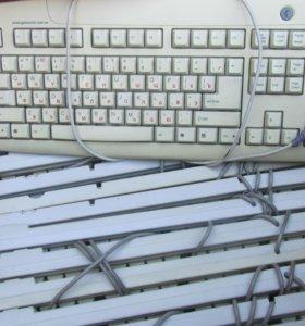 клавиатуры(14шт) и одна мышь