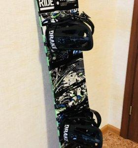 Сноуборд Ride Agenda с креплениями Drake