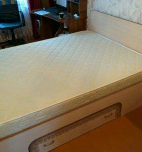 Кровать с матрасом (аскона )