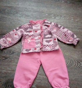 Теплая пижамка для девочки 2-4 года