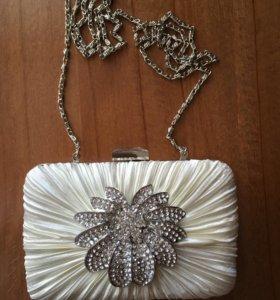 Свадебный клатч, сумочка, вечерняя сумка