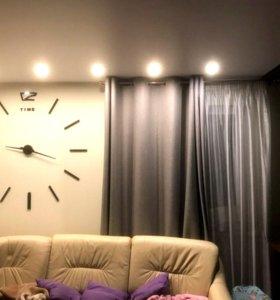 Настенные ЗЕРКАЛЬНЫЕ 3D часы.Новые в коробках
